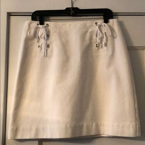 Ann Taylor White Skirt Sz 12